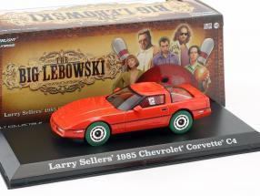 Larry Sellers' Chevrolet Corvette C4 year 1985 The Big Lebowski (1998) red / green 1:43 Greenlight