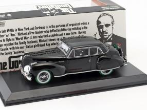 Lincoln Continental with Bullet Hole Damage Film The Godfather 1972 schwarz / grün 1:43 Greenlight