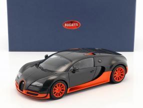Bugatti Veyron 16.4 Super Sport Baujahr 2010 schwarz / orange 1:18 AUTOart