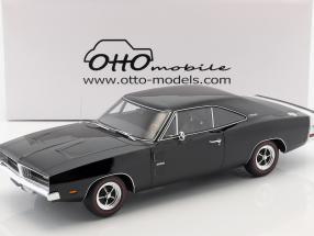 Dodge Charger R/T Baujahr 1969 schwarz 1:12 OttOmobile