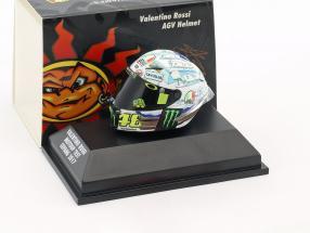 Valentino Rossi MotoGP Test Sepang 2017 AGV Helm 1:8 Minichamps