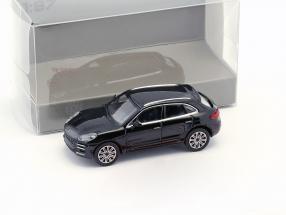 Porsche Macan Turbo Baujahr 2013 schwarz 1:87 Minichamps