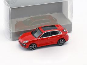 Porsche Cayenne Turbo Construction year 2017 red 1:87 Minichamps
