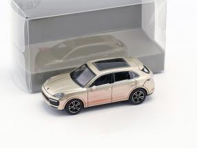 Porsche Cayenne Turbo year 2017 gray metallic 1:87 Minichamps