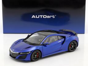 Honda NSX (NC1) year 2016 blue metallic 1:18 AUTOart