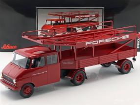 Opel Blitz Renntransporter Porsche rot 1:18 Schuco