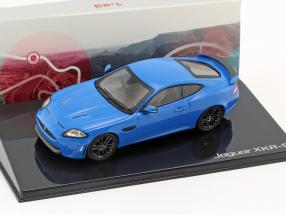 Jaguar XKR-S Baujahr 2011 french racing blau 1:43 Ixo