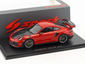 Porsche 911 (991 II) GT2 RS Baujahr 2018 indischrot 1:43 Spark