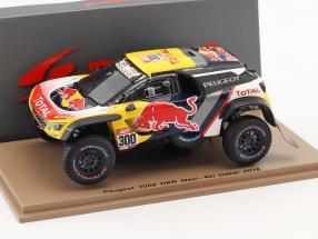 Peugeot 3008 DKR Maxi #300 4th Rallye Dakar 2018 Peterhansel, Cottret 1:43 Spark