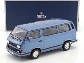 Volkswagen VW T3 Blue Star year 1990 blue metallic 1:18 Norev