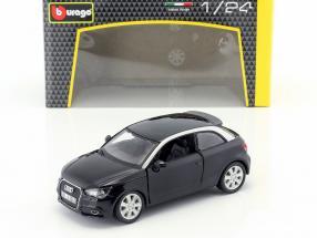 Audi A1 (8X) black 1:24  Bburago