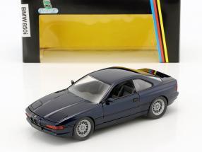 BMW 850i E31 Baujahr 1989 - 1992 dunkelblau metallic 1:24 Schabak
