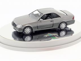 Mercedes-Benz 600 SEC Coupe (C 140) Baujahr 1992 – 1993 silber metallic 1:43 Schabak