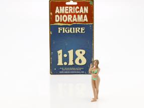 Calendar Girl August in bikini 1:18 American Diorama