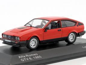 Alfa Romeo GTV6 Baujahr 1985 rot 1:43 WhiteBox