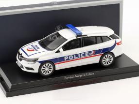 Renault Megane Estate Police Nationale year 2016 white / blue 1:43 Norev