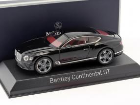 Bentley Continental GT year 2018 beluga black 1:43 Norev