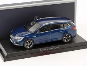 Renault Megane Estate year 2016 cosmos blue metallic 1:43 Norev