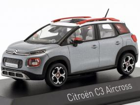Citroën C3 Aircross year 2017 gray / white / red 1:43 Norev