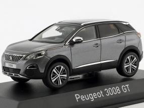 Peugeot 3008 GT Baujahr 2016 platingrau metallic 1:43 Norev