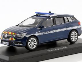 Renault Megane Estate Gendarmerie year 2016 cosmos blue metallic 1:43 Norev