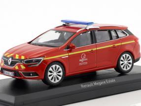 Renault Megane Estate Pompiers year 2016 red / yellow 1:43 Norev