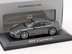 Porsche 911 (991) Carrera achatgrau 1:43 Minichamps