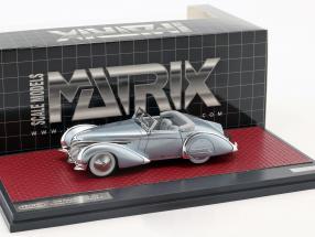 Delahaye 145 V12 Franay Cabriolet Open Top Baujahr 1937 blau metallic 1:43 Matrix