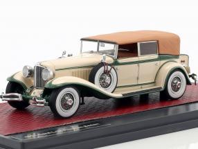 Cord L-29 Phaeton Sedan Closed Top Baujahr 1931 creme weiß / grün 1:43 Matrix