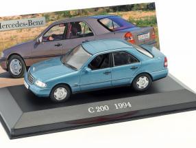 Mercedes-Benz C 200 W202 Baujahr 1994 blau 1:43 Altaya
