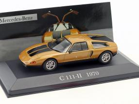 Mercedes-Benz C111-II year 1970 orange / black 1:43 Ixo Altaya