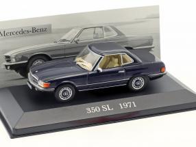 Mercedes-Benz 350 SL (R107) Baujahr 1971 dunkel blau 1:43 Ixo Altaya