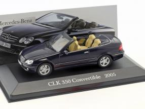 Mercedes Benz CLK 350 (A209) year 2005 blue 1:43 Ixo Altaya