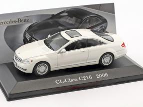 Mercedes-Benz CL-Klasse C216 Baujahr 2006 weiß 1:43 Altaya