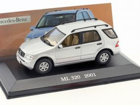 Mercedes-Benz ML 320 W163 year 2001 silver 1:43 Altaya