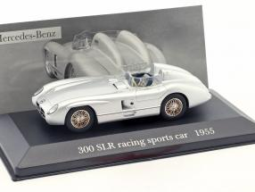 Mercedes-Benz 300 SLR (W196S) racing sports car 1955 silver 1:43 Ixo Altaya