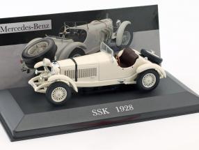 Mercedes-Benz SSK (W06) Baujahr 1928 creme weiß 1:43 Ixo Altaya