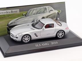 Mercedes-Benz SLS AMG (C197) Baujahr 2010 silber 1:43 Ixo Altaya