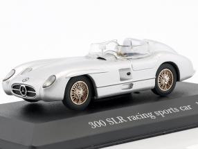 Mercedes-Benz 300 SLR (W196S) racing sports car 1955 silver 1:43 Ixo Altaya