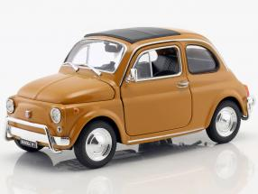 Fiat Nuova 500 year 1957 dark yellow 1:24 Welly
