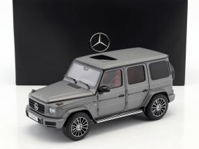 Mercedes-Benz G-Klasse (W463) Baujahr 2018 designo platin magno 1:18 Minichamps