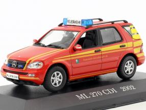 Mercedes-Benz ML 270 CDI Year 2002 Fire department Command car red 1:43 Altaya