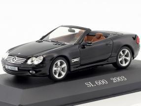 Mercedes-Benz SL 600 R230 Baujahr 2003 schwarz 1:43 Ixo Altaya