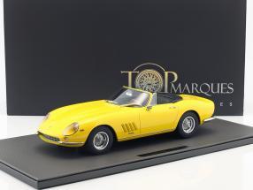 Ferrari 275 GTB/4 NART Spyder Baujahr 1967 gelb 1:12 TopMarques