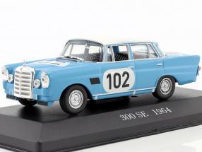 Mercedes-Benz 300 SE W112 Rallye #102 Baujahr 1963 blau 1:43 Altaya