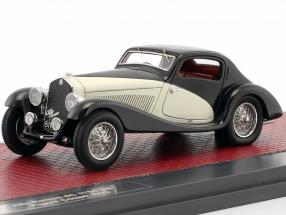 Alfa Romeo 6C 1750 GS Figano Coupe Baujahr 1933 schwarz / creme 1:43 Matrix