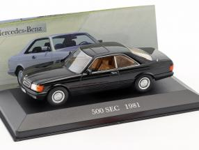 Mercedes Benz 500 SEC (C126) Baujahr 1981 schwarz 1:43 Ixo Altaya