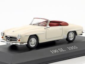 Mercedes Benz 190 SL (W121 B2) Baujahr 1955 creme weiß 1:43 Ixo Altaya