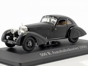Mercedes-Benz 500 K (W29) Autobahnkurier Bj. 1934 black 1:43 Ixo Altaya