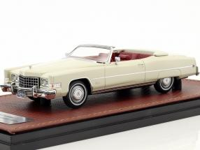 Cadillac Eldorado Convertible Open Top year 1973 white 1:43 GLM